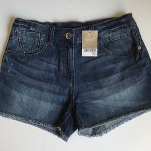 NWT - NEXT UK Girls Denim Shorts 13Yr